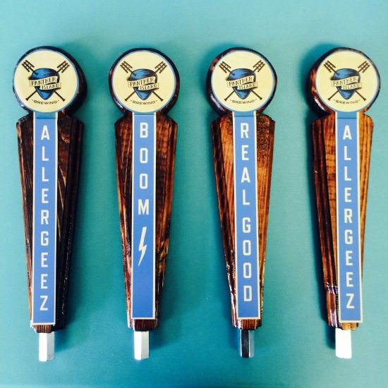 Custom beer taps made for client Panther Island Brewing