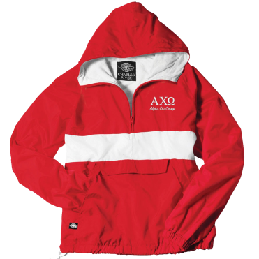 Alpha Chi Omega-Charles River Embroidered Jacket - FindGreek