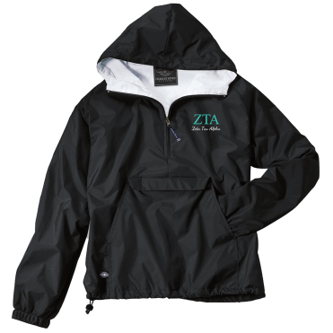 Zeta Tau Alpha-Charles River Apparel Embroidered Jacket-FindGreek