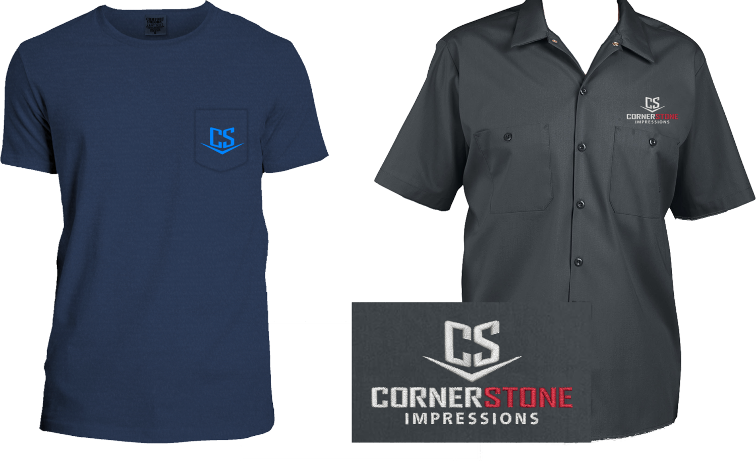 CS Tee and Work Shirt