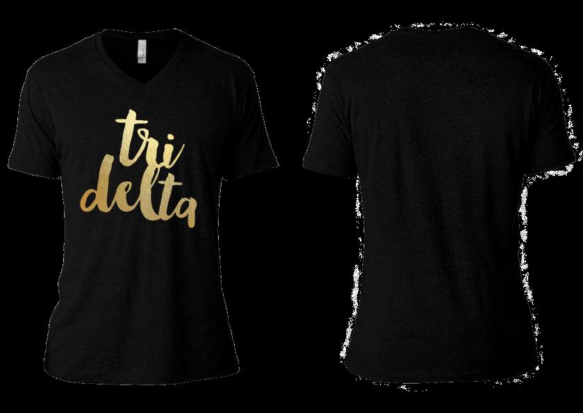 Tri Delta Gold Foil - Foil trend