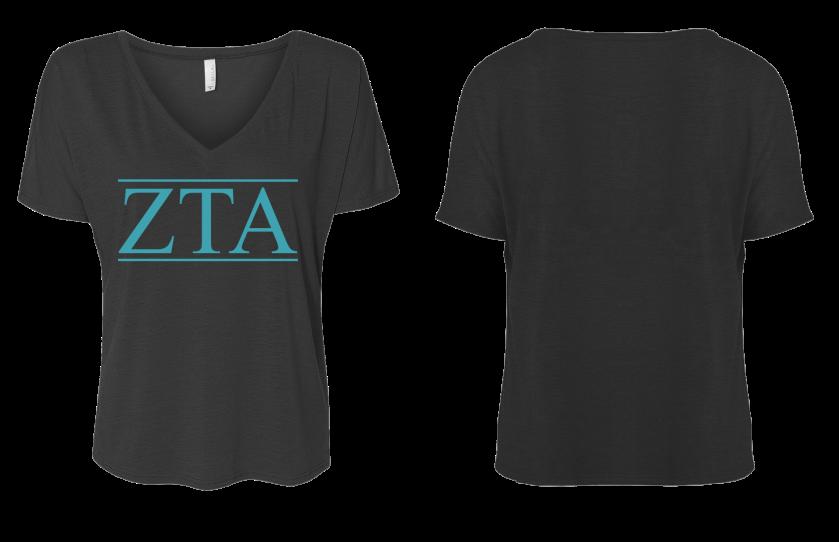 ZTA Letters Flowy Style